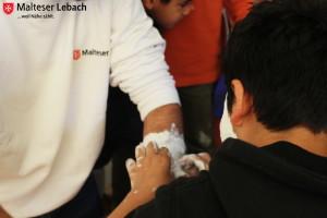 Sozialaktion der Malteser Lebach in der Landesaufnahmestelle Lebach