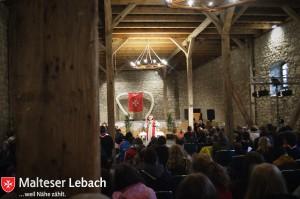 Auch der Gottesdienst am Pfingssonntag durfte nicht fehlen, und mit der Klosterscheune Anrode war ein schönes Ambiente dazu gegeben.