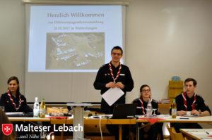 Danach eröffnete der alte Diözesanjugendführungskreis die Sitzung und berichtete über das vergangene Jahr.